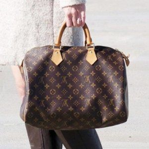 Louis Vuitton Speedy 30 Hand Bag Purse #6643L39B